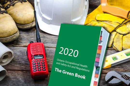 "Book OHSA ""The Green Book"" Training and Awareness"